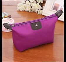 Unisex Women Waterproof Travel Make up Bag Storage Pouch Purse. Sexy Purple