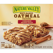 (4) Boxes Nature Valley Soft-Baked Oatmeal Squares Cinnamon Brown Sugar 24 Bars