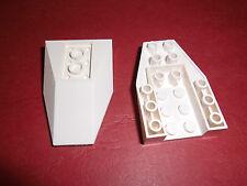 Lego (4856) 2 Schräg-/Keilsteine invers 6x4x1, in weiß aus 7903 7214 9493 4477