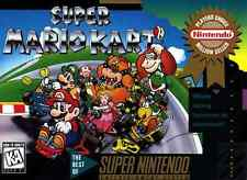 Super Nintendo Snes MARIO KART   Box Cover Photo Poster 8.5x11  No Game