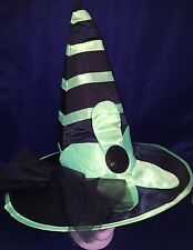 Rubies Costume Co Tall Black & Green Witch Hat w/Flower Halloween Accessory