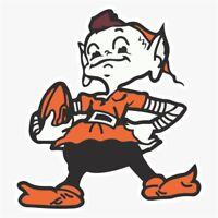 Cleveland Browns Primary Logo Die Cut Vinyl Decal Buy 1 Get 2 FREE