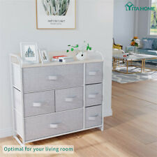 Yitahome 7-Drawer Chest of Fabric Dresser Furniture Bedroom Storage Organizer