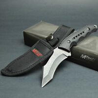 "MTECH 8 5/8"" 440 Stainless Recurve Tanto Fixed Blade Tactical Combat Knife"