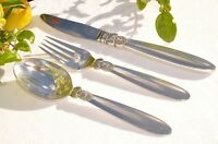 CACTUS LUNCEON SET  KNIFE FORK AND SPOON GEORG JENSEN STERLING SILVER