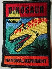 Dinosaur National Monument Allosaurus Embroidered Patch Colorado Souvenir (P76)