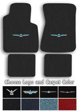 Ford Thunderbird Logo Cutpile Carpet Floor Mats - Choose Mat Color And Logo