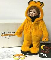 Danbury Mint Trick Or Treat With Garfield Halloween Girl Doll With Stand