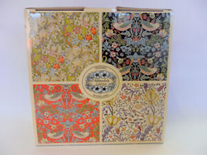Set of 4 gift boxed Assorted William Morris designs fine china palace mugs