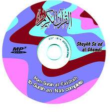 Holy Qur'an Arabic-only Complete on Mp3 Audio CD [Saad al-Ghamdi] islam quran