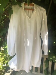 Poldark White Linen ? Shirt One Size . Fancy Dress Larp , Period Costume Re-enac