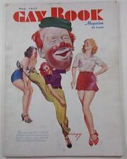 GAY BOOK MAG MAY 1937 EARLE K BERGEY COVER TARZAN BILL THOMAS BOSTON RED SOX