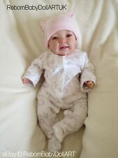 Reborn baby doll GIRL happy smiling girl by #RebornBabyDollArtUK