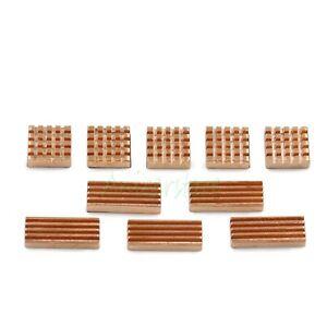 10-Pieces Adhesive Back Copper Heatsink For PC VGA GPU Chipset DDR3 RAM Memory