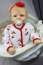 Toddler Play Toy Alive Newborn Doll Reborn Doll Kids Baby Boy Girl Realistic 22""