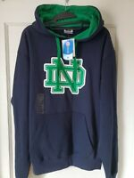 University of Notre Dame Hoodie Embroidered Fighting Irish Size Large NEW