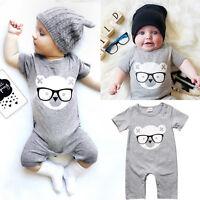 Newborn Infant Baby Girls Boys Romper Bodysuit Jumpsuit Playsuit Outfits Clothes