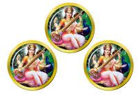 Saraswati Hindou Marqueurs de Balles de Golf