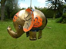 Elephant Tea Light Candle Holder Metal ELEPHANT Hanging Lantern-GOLD ELEPHANT.