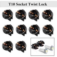 10Pcs T10 168 192 Bulb Socket Holder Wedge Dashboard Dash Light Base Twist Lock