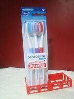 Toothbrush 3 Sensodyne Sensitive Soft GSK  Soft Bristle Lot of 3 Free Shipping