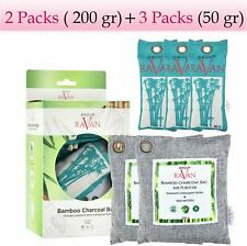 5pack Bamboo Charcoal Air Purifying Bag, Breathe Green Charcoal Bags, Odor Elimi