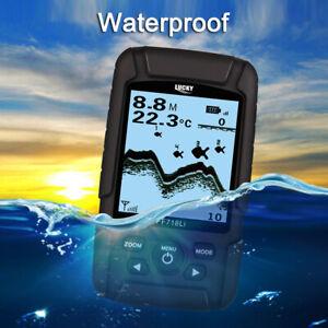 LUCKY Wireless Sonar Fish Finder With Fish 45M Depth Alarm 180M Range