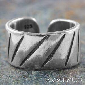 Silberring Silber 925 Ring  Verstellbar Offen R0831 Damenring modern, breit
