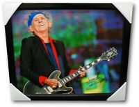 Keith Richards Autographed Hand Signed 16x20 Canvas Rolling Stones GA Letter