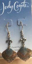 Jody Coyote Earrings JC0750 new Tranquil Collection QN201-01 gold dangle blue