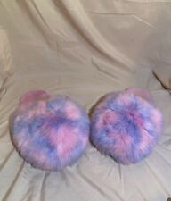 Pink And Purple Slippers/size:11-12