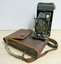 Antique 1920's Kodak No1 Folding Bellows Camera in Leather Case