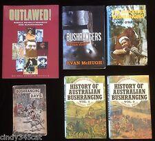 History Australian Bushranging Brady Cash Thunderbolt Outlawed McHugh 6 Books