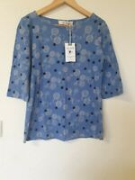 Lily & Me Circle Print 3/4 Sleeve Jersey Top Size 12