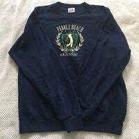 Santee Sweats Vintage Lg Embroidered Black Navy Blue Pebble Beach Classic Golf