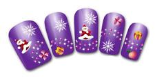 Nail art stickers bijoux d'ongles: Pères Noël flocons cadeaux décorations hiver
