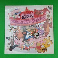 WALT DISNEY Merriest Songs DL3510 LP Vinyl VG+ near ++ Cover Shrink