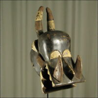 59934) Afrikanische Holz Maske Senufo Elfenb.-küste Afrika KUNST