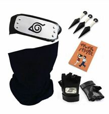 Naruto Hatake Kakashi Cosplay Gloves Mask Headband Anime Accessories Kunai Book