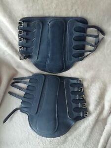 Sabre Leather Brushing Boots Size Large Black