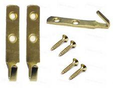 J Picture Hook Heavy Duty Brass Mirror Hanging Hooks 60mm Frame Wall Fixings x 2