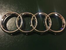 "06-12 AUDI CHROME FRONT GRILL 4 RINGS Badge Emblem A3 A5 A4 A6 A8 10.75"" US New"