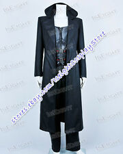 Blade Trinity Wesley Snipes Black Leather Male Coat Cosplay Costume Halloween