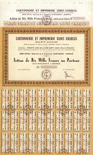 Cartonnerie et Imprimerie Saint-Charles - Aktie 10000 FFR-Lot von 100 Blanketten