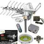 LAVA HD2605 HDTV DIGITAL ROTOR AMPLIFIED OUTDOOR TV ANTENNA HD UHF VHF FM CABLE