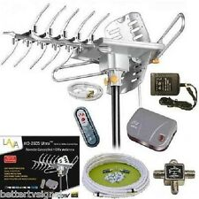 LAVA HD2605 HDTV DIGITAL ROTOR AMPLIFIED OUTDOOR TV ANTENNA HD UHF VHF FM C