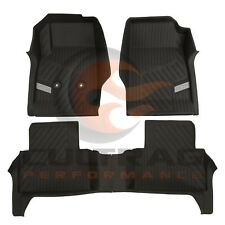 2015-2018 Colorado Crew Cab GM Front & Rear All Weather Floor Liners Black