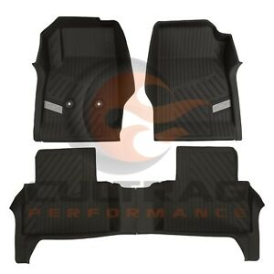 2015-2020 Colorado Crew Cab GM Front & Rear All Weather Floor Liners Black