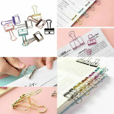 10pcs Hollow Metal Binder Clips Long Tail Paper Photo Hanging Papers Collection