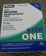 Rugby Step 1 Clear Nicotine Patch System 21 mg 14 PATCHES  Free Shipping